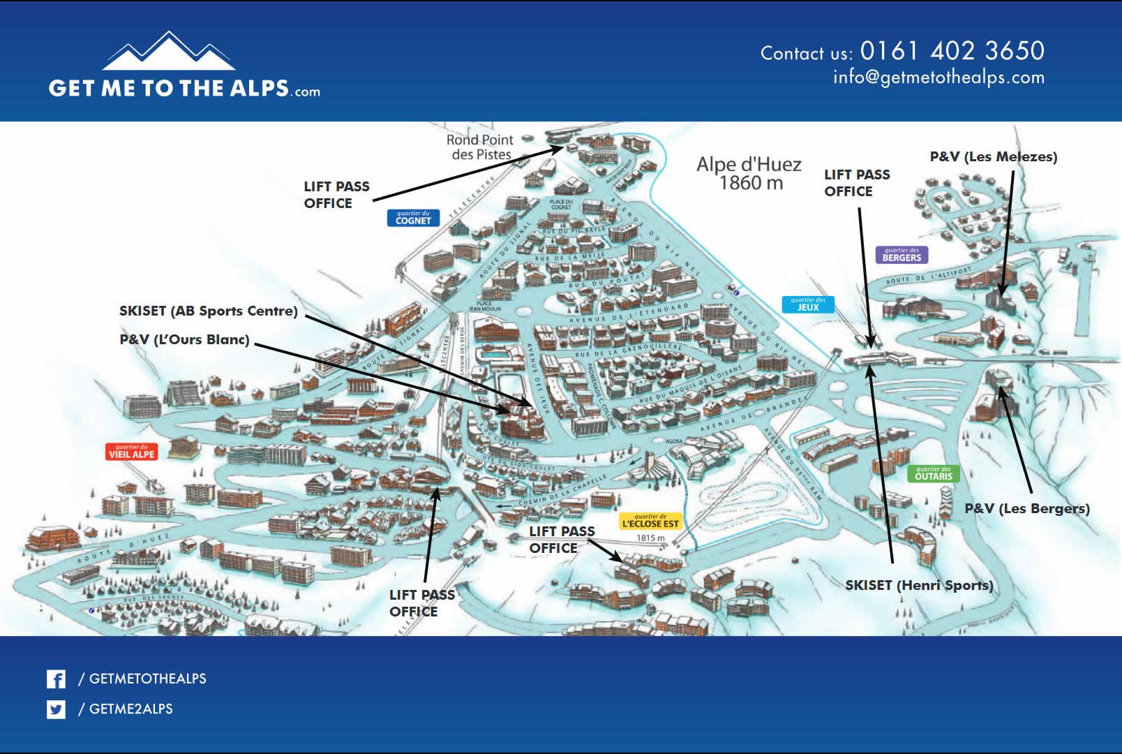 Alpe d huez map