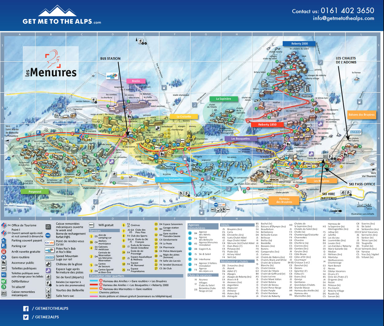 LES MENUIRES map.2