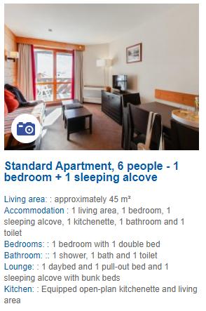 1 Bedroom 6 Person Apartment Description