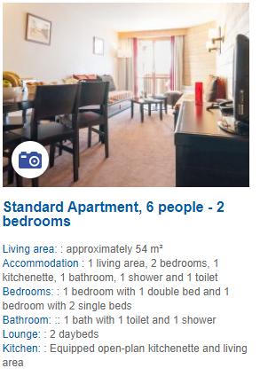 2 Bedroom 6 Person Apartment Description