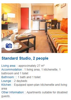 2 Person Studio Apartment Description