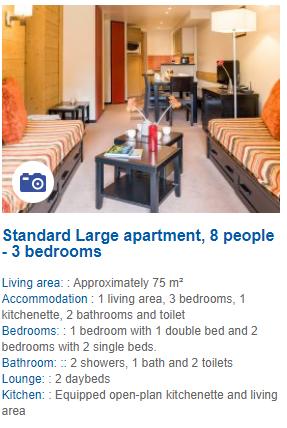 3 Bedroom 8 Person Apartment Description