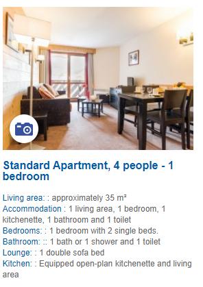 1 Bedroom 4 Person Apartment Description