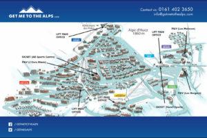 Picture of Alpe d'Huez village map