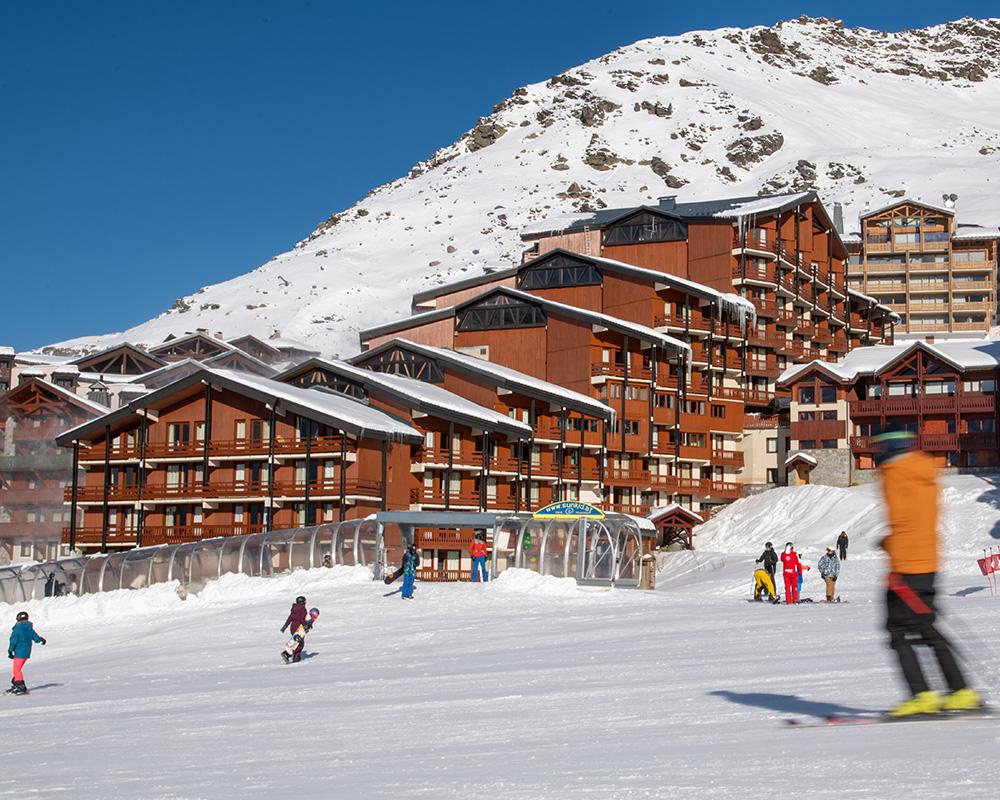 Cheval Blanc Val Thorens ski in / ski out view