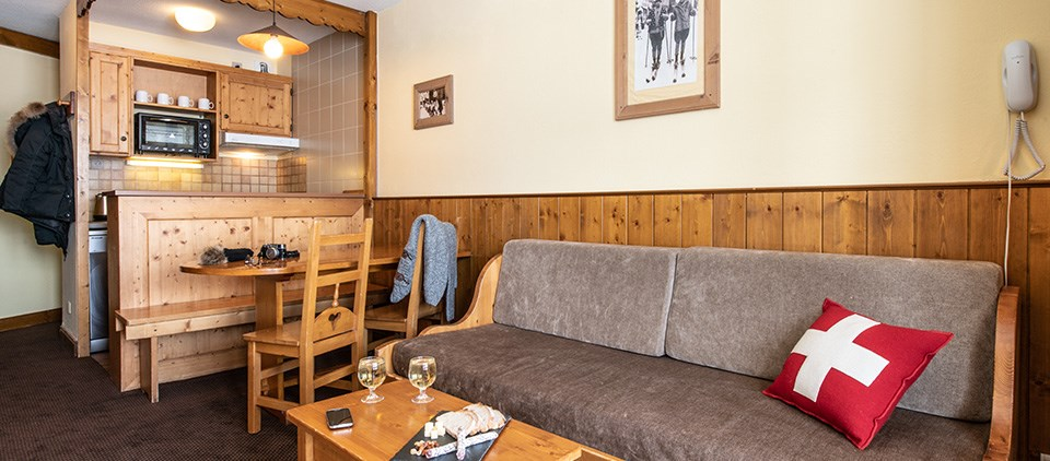 Image of a living area in the apartment