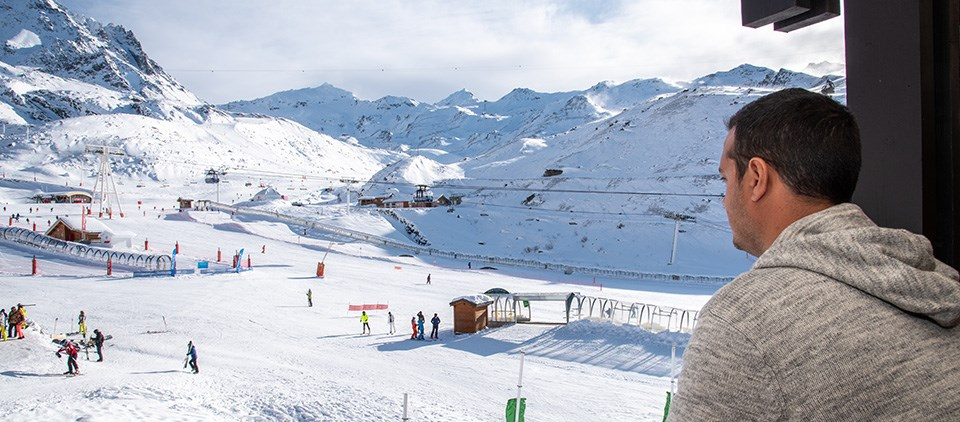 View from the balcony at Cheval Blanc Val Thorens