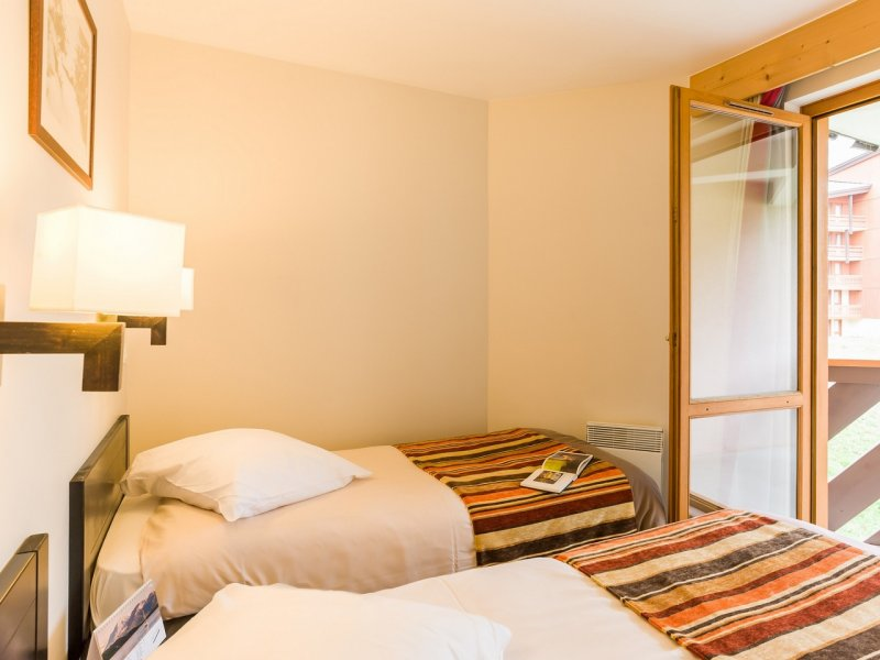 Picture of an example Twin Bedroom in Residence Le Tikal Val Thorens
