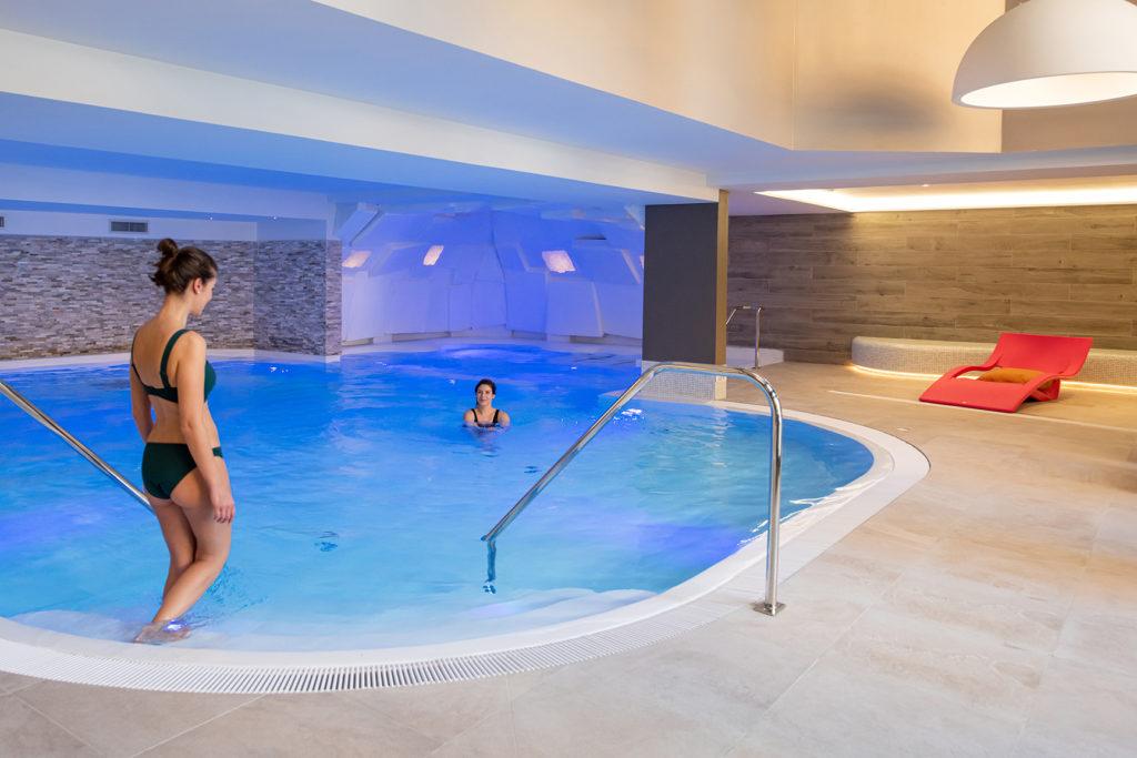 A picture of the indoor pool in L'Hevana Meribel