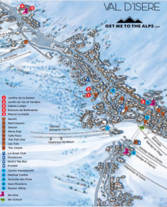 Picture of the Val d'Isere town map