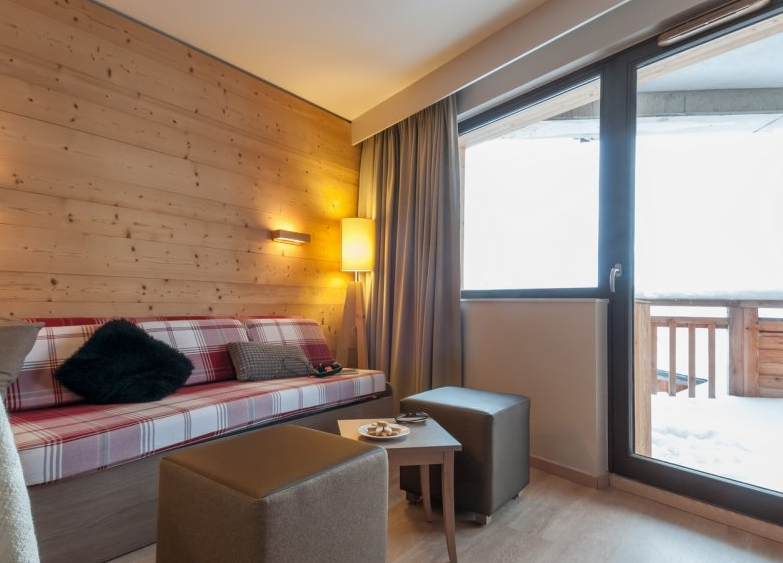 Picture of a living area in the Atria Crozats Avoriaz residence