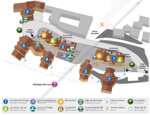 Les Balcons de Val Thorens site map
