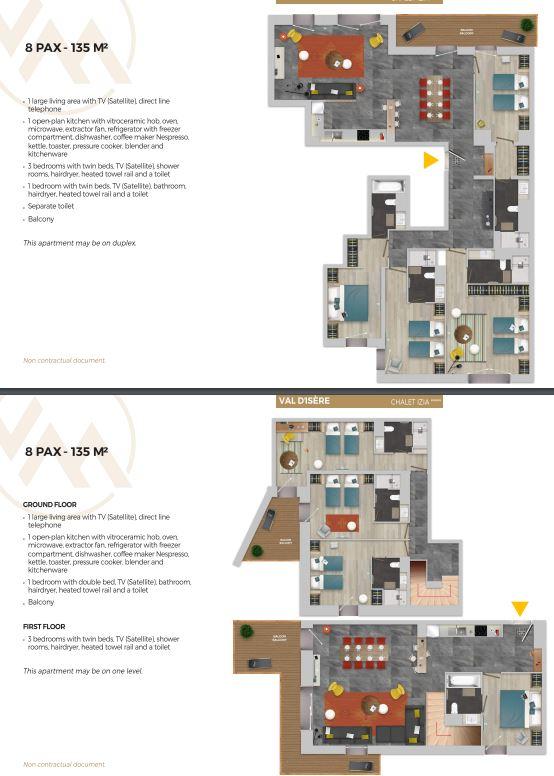 Chalet Izia Val d'Isere 4 bedroom apartment for 8 people description