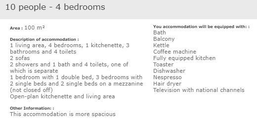 apartment description exceptional 4 bed 10 in L'Ecrin des Neiges Tignes