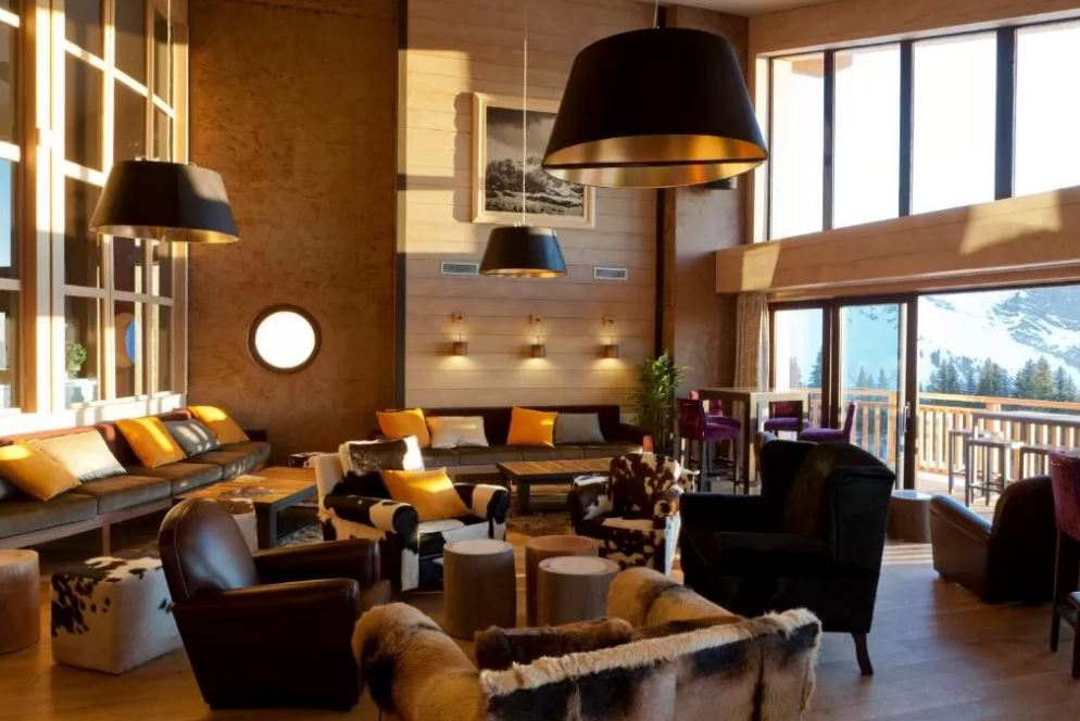 Picture of the reception area in the residence of L'Amara Avoriaz