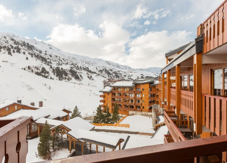 Picture of a balcony view at Residence Les Crets Meribel