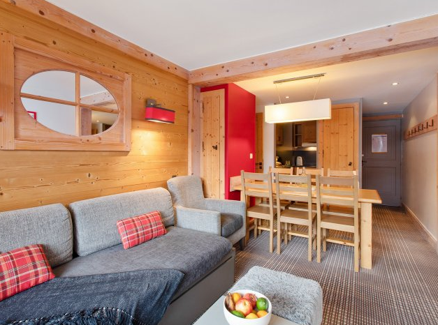 Picture of living area at Residence Les Crets Meribel