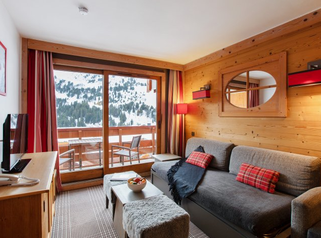 Another picture of living area at Residence Les Crets Meribel