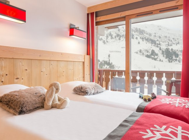 Picture of a bedroom in Residence Les Crets Meribel