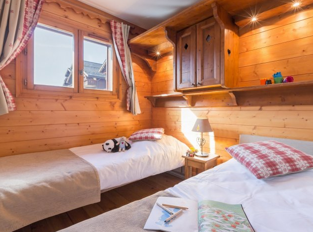 Picture of a typical bedroom in Les Fermes de Meribel