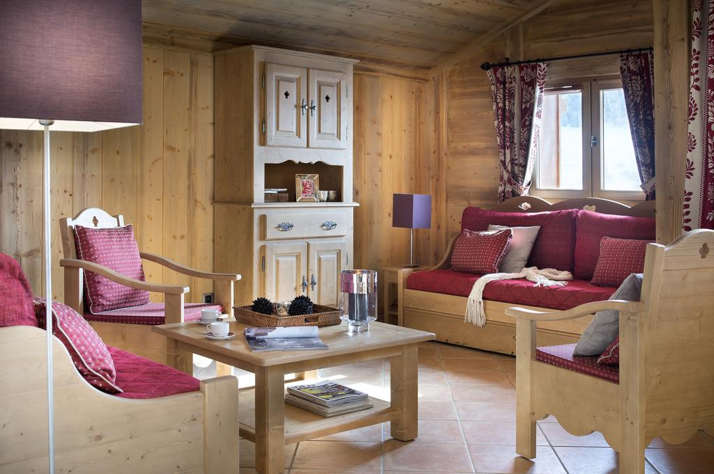 Image of the living area in La Ferme du Val Claret