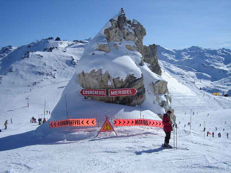 Meribel group ski holidays, image of the pistes