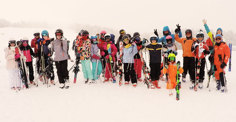 Meribel group ski holidays, image of a large group
