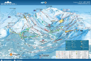 Image of the Meribel piste map
