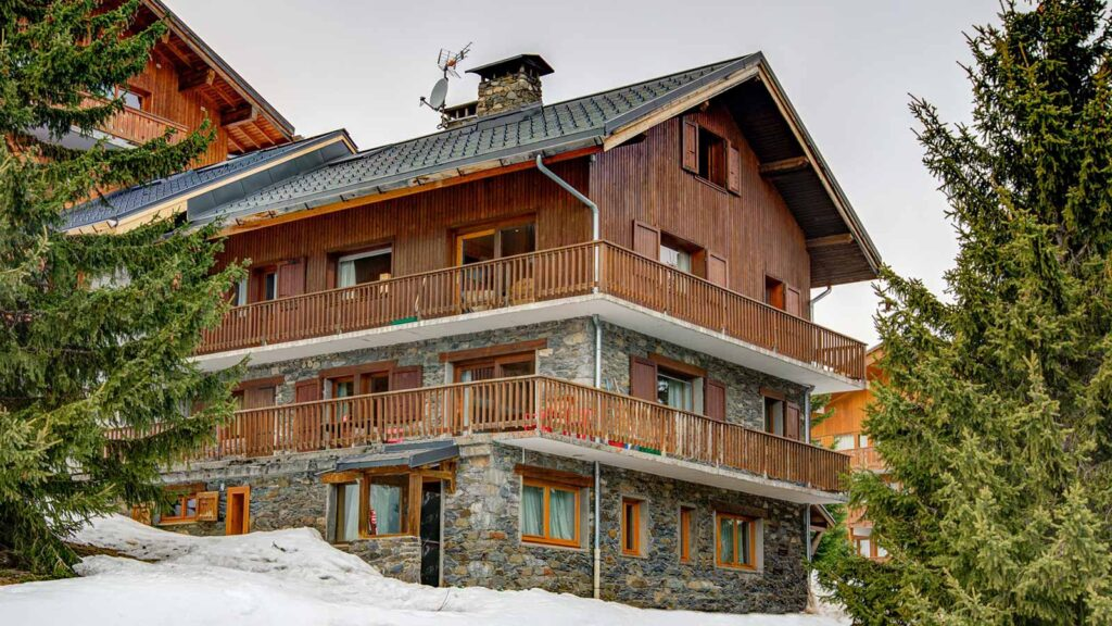 Meribel ski chalets - image of one of the catered chalets