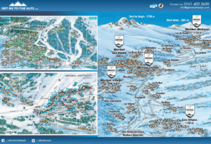 Image of the Meribel town map