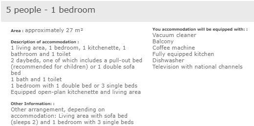 L'Ours Blanc Alpe d'Huez 1 bedroom apartment for 5 people description