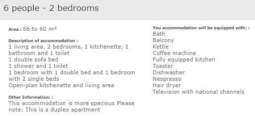 apartment description superior 2 bed 6 in L'Ecrin des Neiges Tignes