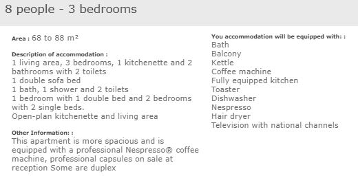 apartment description superior 3 bed 8 in L'Ecrin des Neiges Tignes