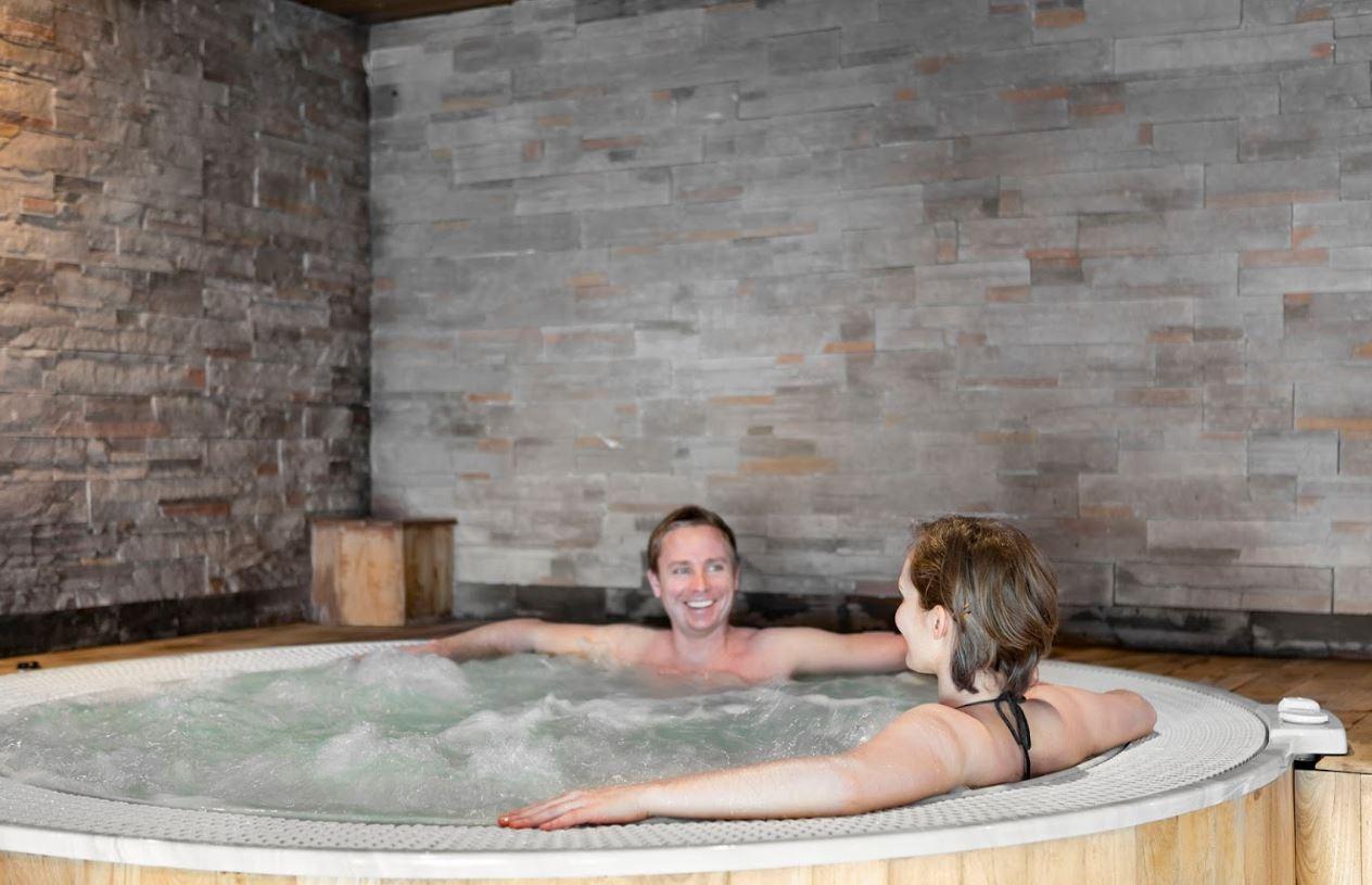 The Hot tub at Les Balcons de Belle Plagne