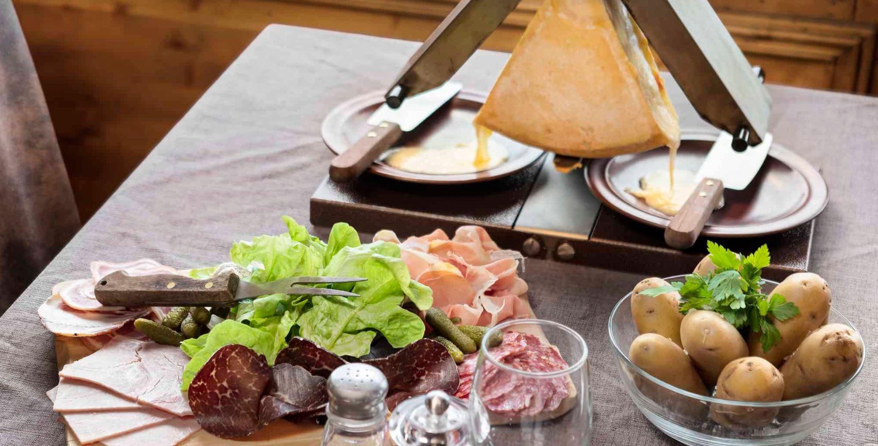 Picture of a Raclette meal at the restaurant of Les Balcons de Belle Plagne