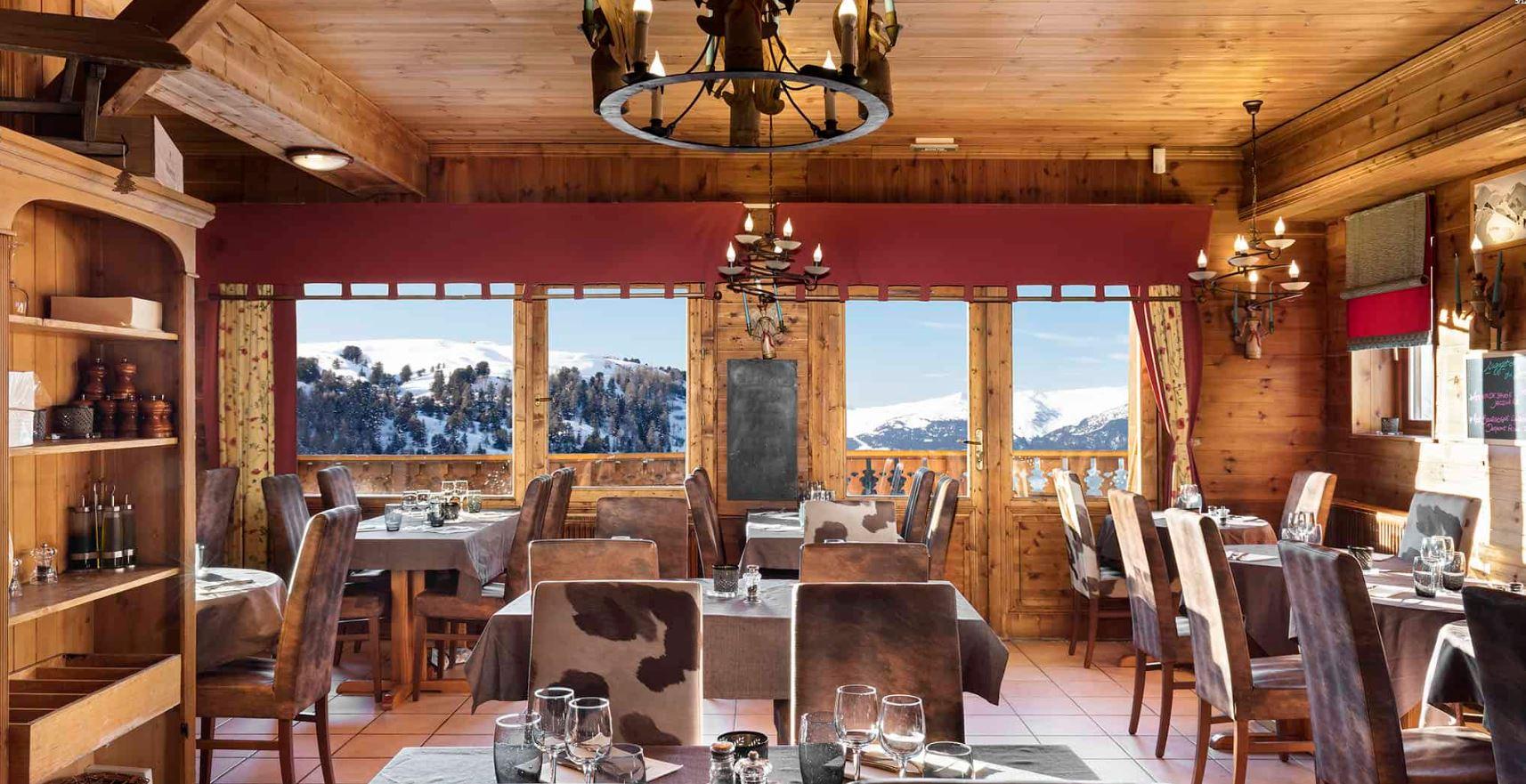 The restaurant at Les Balcons de Belle Plagne