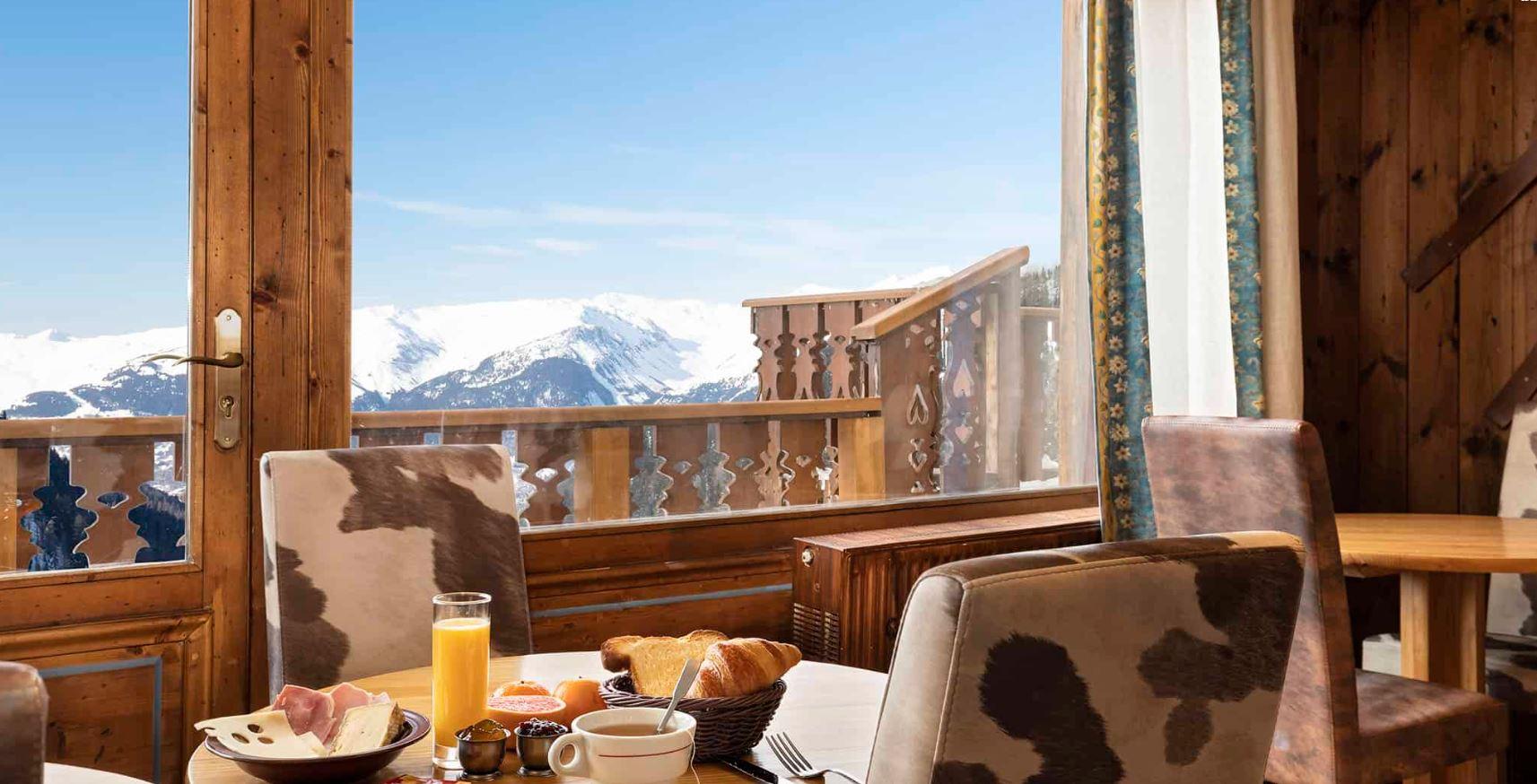 The amazing view out of the restaurant window at Les Balcons de Belle Plagne