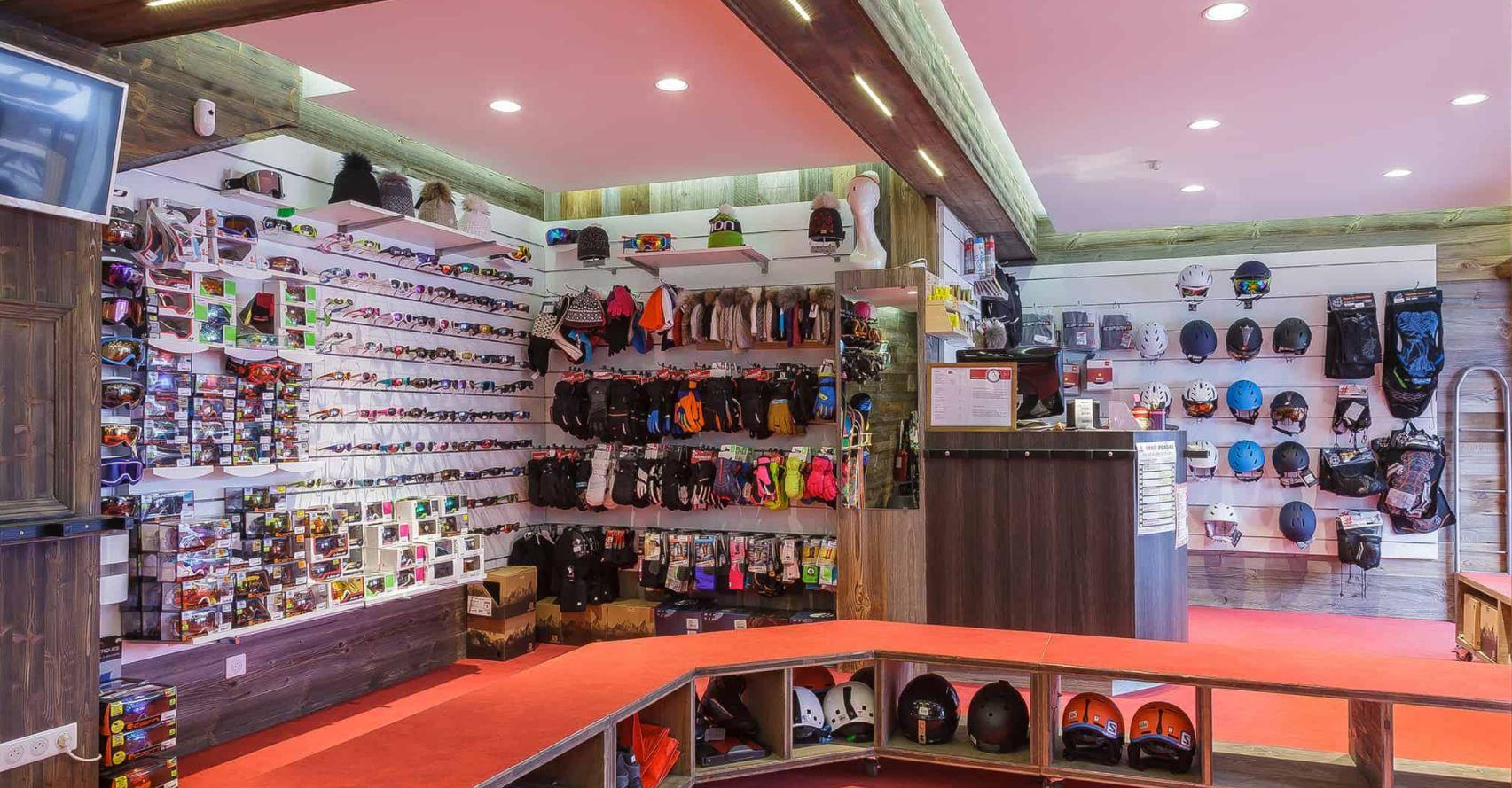 The ski hire shop at Les Balcons de Belle Plagne