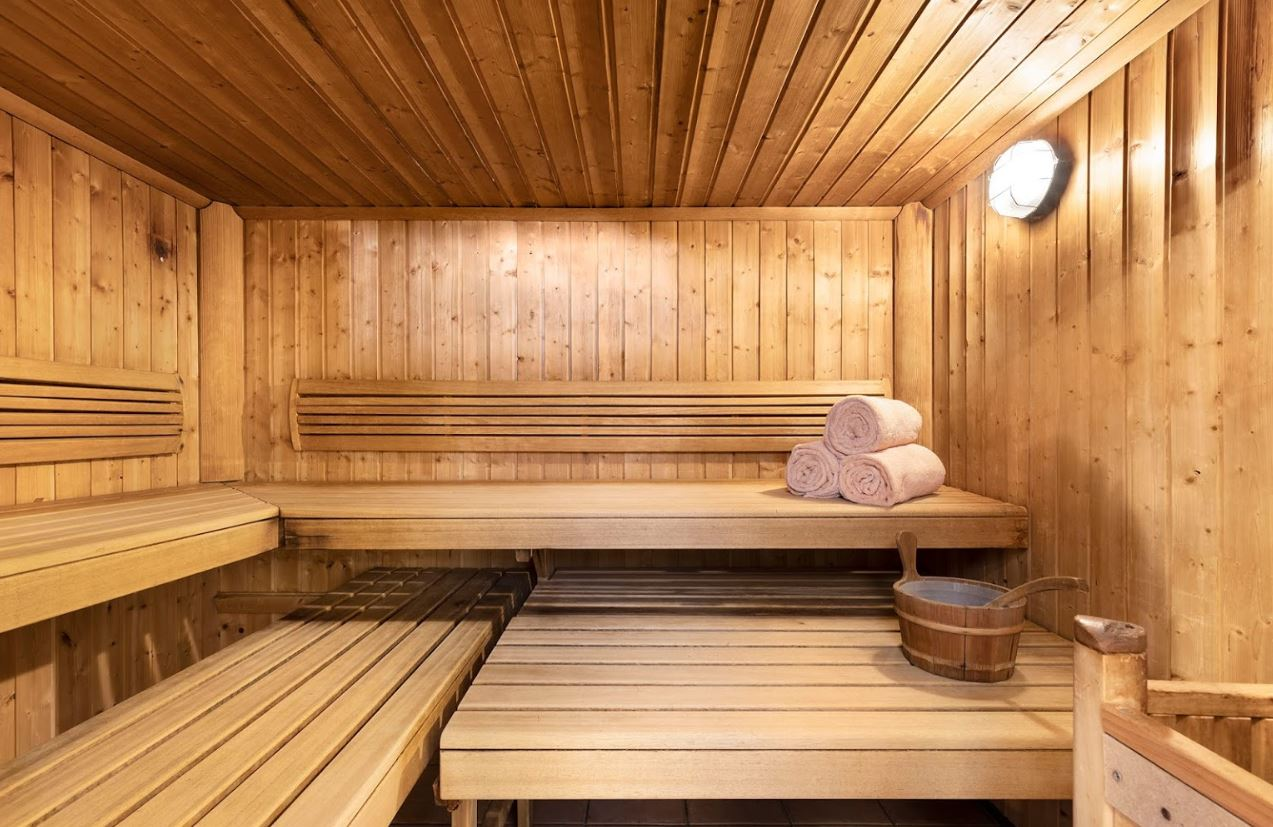 The sauna room at Les Balcons de Belle Plagne