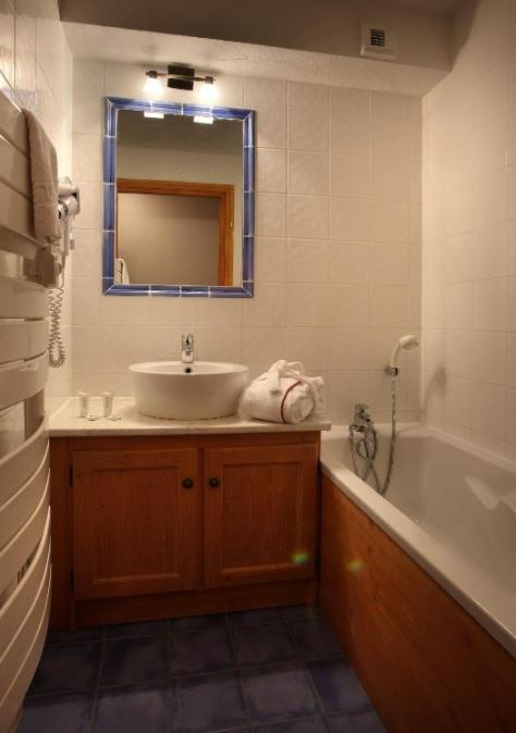 The bathroom in one of the apartments at Chalet Des Neiges Plein Sud