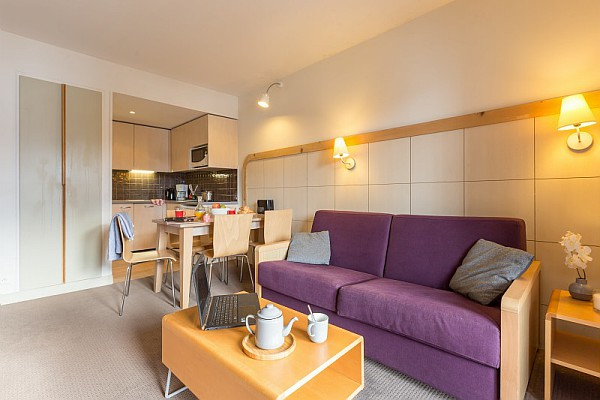 This is a picture of the inside of an apartment at Residence de la Foret Flaine