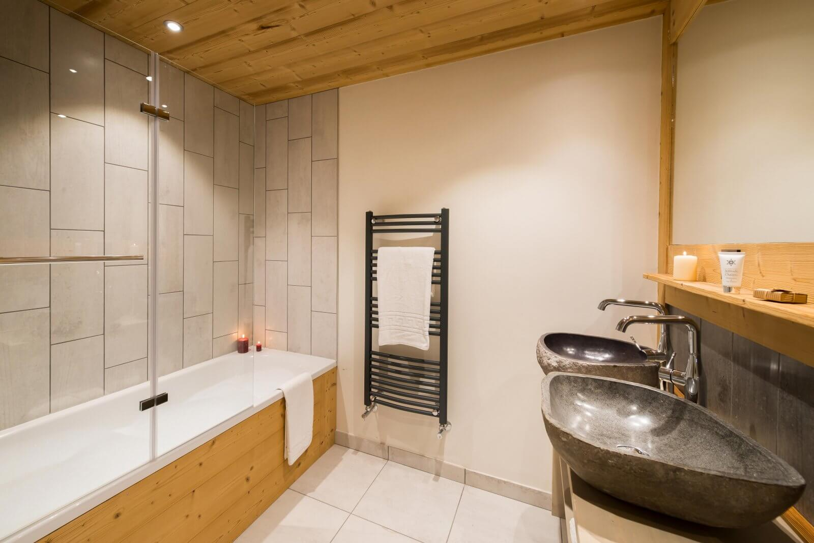 One of the bathrooms in the residence with a bath