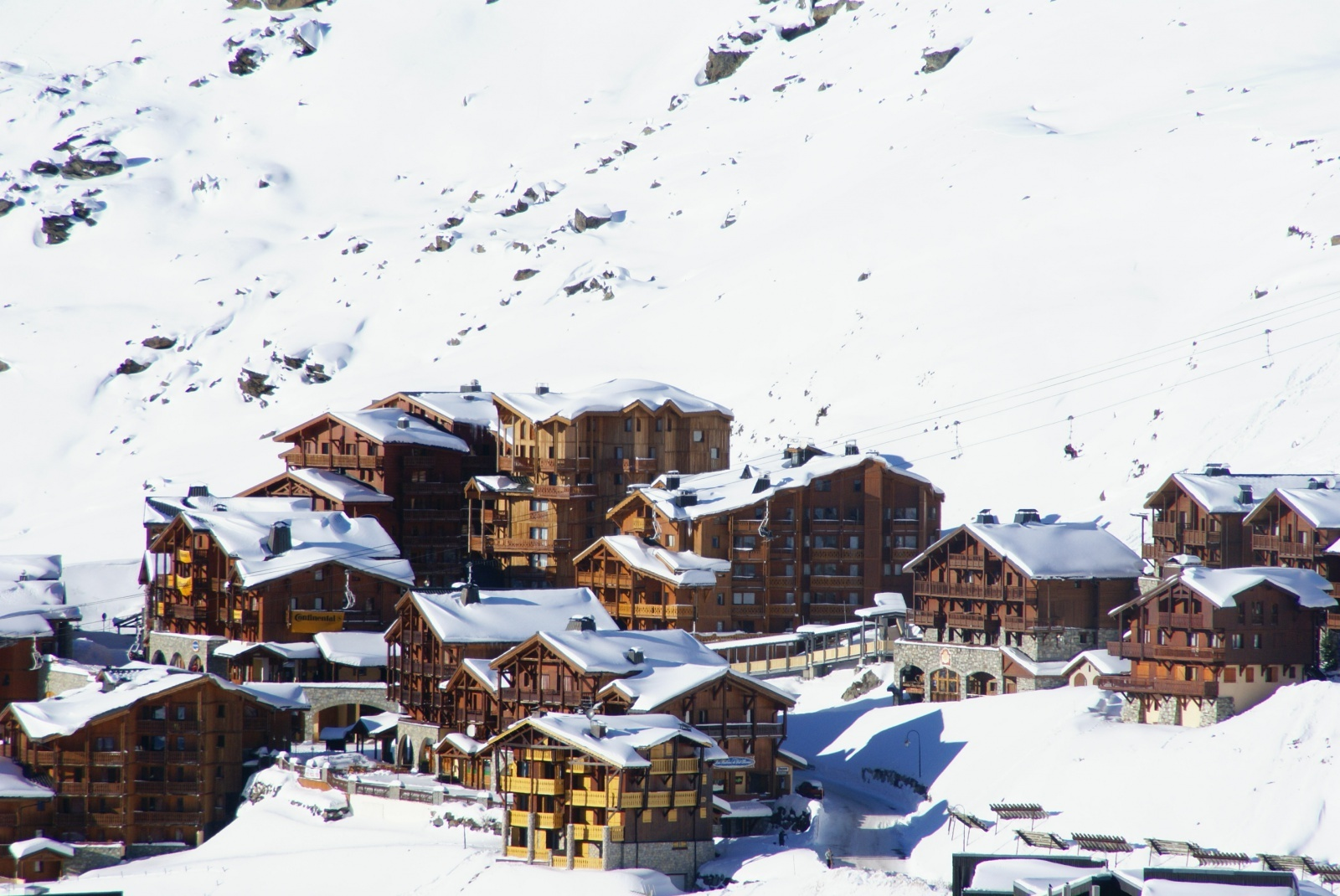An image of Chalet Altitude nestled amongst the snowy mountains