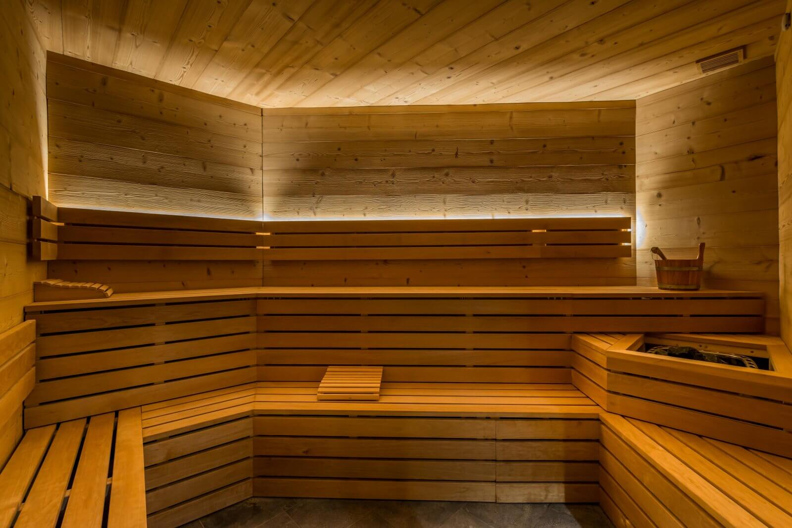 The sauna at Chalet Altitude Val Thorens