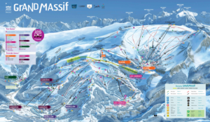 The Grand Massif Piste Map