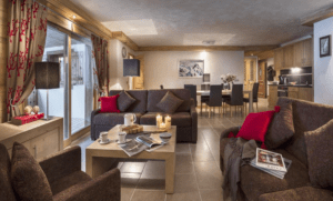 One of the apartments at Les Chalet de Leana