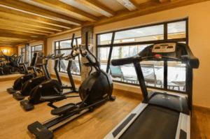 The gym at Les Chalet de Leana