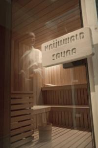 The sauna at Les Chalet de Leana