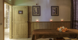 The massage room at the spa