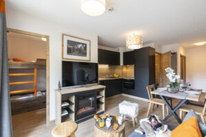 One of the apartment at Les Clarines Les Deux Alpes